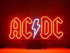 "17"" Ac Dc Pinball Neon Sign Displaly Gameroom Garage Sports Bar Real Glass Light"