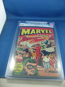 MARVEL MYSTERY COMICS 86 CGC 6.0 CAP AMERICA BLONDE PHANTOM EVERETT TIMELY 1948