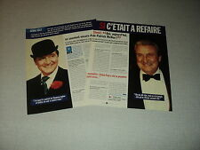 A121 PATRICK MACNEE AVENGERS '1996 FRENCH CLIPPING