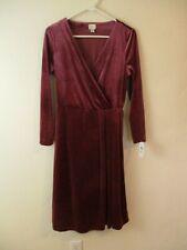 Women's S dress a new day brand purple wrap v neck long sleeve knee length
