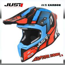 CASCO JUST CROSS ENDURO JUST1 J12 VECTOR ORANGE BLUE CARBON 2019 TAGLIA S
