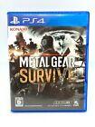 Sony PS4 PLAYSTATION - Metal Gear Survive Versión Japan