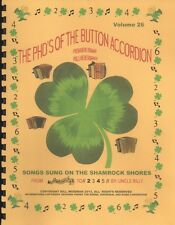 """ACCORDION MUSIC BOOKS """"SONGS SUNG ON THE SHAMROCK SHORE"""""""