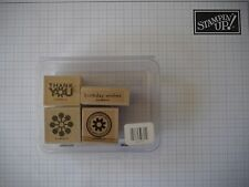 STAMPIN UP ! Wow Flowers Wood-Mount stamp set