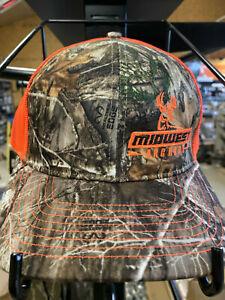 New MIDWEST ARCHERY Hat Cap CAMO ORANGE RICHARDSON 112 DEER Bow HUNTING Gun