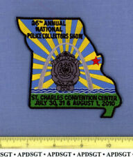 2010  NATIONAL POLICE COLLECTORS SHOW ST LOUIS MISSOURI Police Patch STATE SHAPE