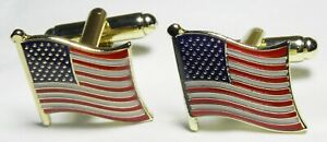 USA America Flag Cuff Links American Stars and Stripes  Country Cufflinks
