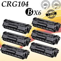 6 PK Q2612A Toner Black For Canon 104 FX-9 FX-10 MF4350d MF4150 MF4270 L120 D420