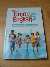 """Guide pédagogique et fiches pour la classe """"New Enjoy English 6ème"""" livre"""