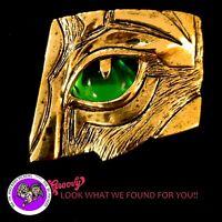 """JJ"" Jonette Jewelry Gold 'Tiger Lion Eye ' Pin Rhinestone Rare 2""X 2"" FREE SHIP"