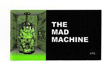 "THE MAD MACHINE Jack Chick Christian Bible Gospel JESUS CHRIST 5"" x 2.75"" Tract"