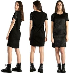 Abito donna EVERLAST taglia M abitino lucido estivo cotone e modal vestito nero