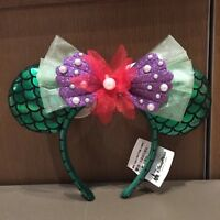 Authentic Disney Parks Mermaid Minnie Mouse Ear green Headband new with tag