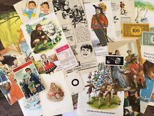 25 Vintage Ephemera Childhood theme Junk Journal Mixed Media