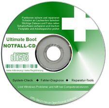 BOOT & NOTFALL-CD für Windows XP Vista 7 8 DATENRETTUNG System Check PC-Hilfe