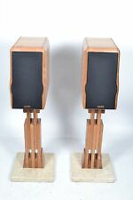 Usher Audio Compass RW-729 Speakers - Wood Marble Stands - D'Appolito Design
