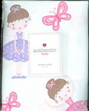 AUTHENTIC KIDS ~ Fabric Shower Curtain ~ 55% Cotton ~ Ballerina & Butterfly NIP