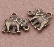 PJ236 20pcs Antique Bronze elephant Pendant Bead Charms Accessories wholesale