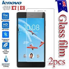 2X Lenovo Tab E7 E8 Tempered Glass / Pet LCD Screen Protector Film Guard (2 Pcs)