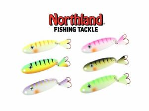 10 SPOONS NORTHLAND FISHING TACKLE MACHO MINNOW SPOON VALUE ASSORTMENT