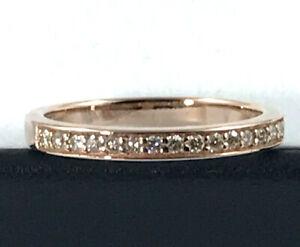 9K Rose Gold Diamond Eternity/Wedder Diamond RING_375 gold
