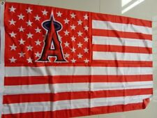 Los Angeles Angels with US Stars Stripes Flag Banner 3x5FT