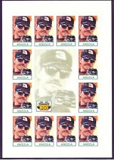 ANGOLA 1998 15 Kz. DALE EARNHARDT, Daytona 500 Winner superb U/M MS IMPERFORATED