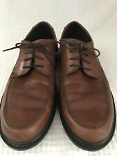 ECCO Mens Brown Leather Dress Shoes Size 44 US 10.5 Lace Up Oxford