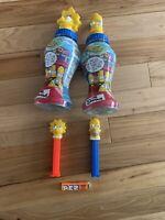 2002 Bart & Lisa The Simpsons Krusty Burger BELLYWASHERS - Empty Bottles & Pez
