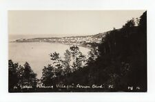Fishing Village Perron Blvd. GASPÉSIE Quebec Canada 1924-40s RPPC Henderson 16