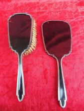 Pretty, Old Set__MIRROR, Brush __925silber__ with insert__Sterling_