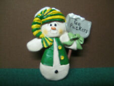 "1970 Green Bay Packers Vintage ""Go Packers"" Snowman Christmas Ornament"