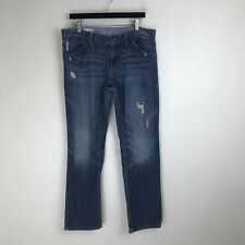 Gap Jeans - Easy Straight Dark Distressed - Tag Size: 12 (34x31) - #5940