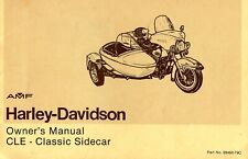 1979 Harley Davidson Cle Klassisch Sidecar Owners Manuell -cle Seitenwagen