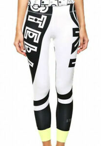 Adidas x Stella McCartney Women's Leggings Stella Sport Gym Fitness White&Black