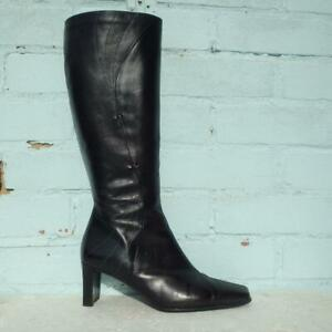 Clarks Leather Boots Size UK 6 Eur 39 Womens Shoes Soft Cushion Black Boots