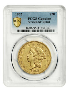1852 $20 PCGS XF Details (Scratch) - Liberty Double Eagle - Gold Coin