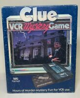 1985 CLUE VCR Murder Mystery Game - Parker Brothers Complete Detective Vintage