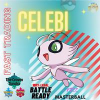 Pokemon Sword and Shield SQUARE SHINY CELEBI 6IV W Masterball FAST TRADING
