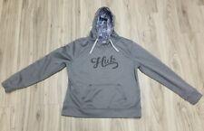 HUK Fishing Performance Fabrics Hooded Pullover Hoodie Boy's SZ L Gray VGUC