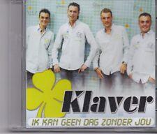 Klaver-Ik Kan Geen Dag Zonder Jou promo cd single