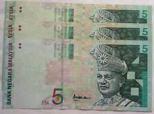 RM5 Ali Abul Hassan center sign Note X 3 pcs