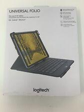 """Logitech 9-10"""" Tablet Keyboard Case Universal Folio Wireless Bluetooth Keyboard"""