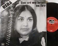 USHA - You Set My Heart On Fire ~ VINYL LP INDIAN PRESS