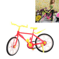 Fashion  Doll Bike Accessories Toy Play House Plastic Bicycle To RA