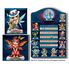 Perpetual Calendar Jasmine Becket-Griffith Fairy Figurine Set of 2 - #4 July Aug