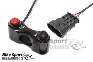 Aprilia RSV4 race bike handlebar switch assembly Stop/Run and Start