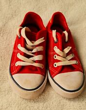 TU Red Converse Style Trainers Pumps Shoes Infant Size 11 uk