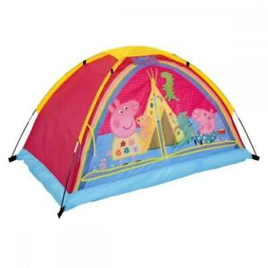 Peppa Pig Dream Den Kids Girls Themed Play Nap Tent w Airbed and Lights - Pink