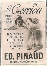 """PARIS PLACE VENDOME PARFUM PINAUD """" LA CORRIDA """" PUBLICITE 1910"""